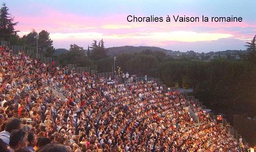 Choralies à Vaison